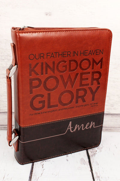 LuxLeather Matthew 6:13 Bible Cover