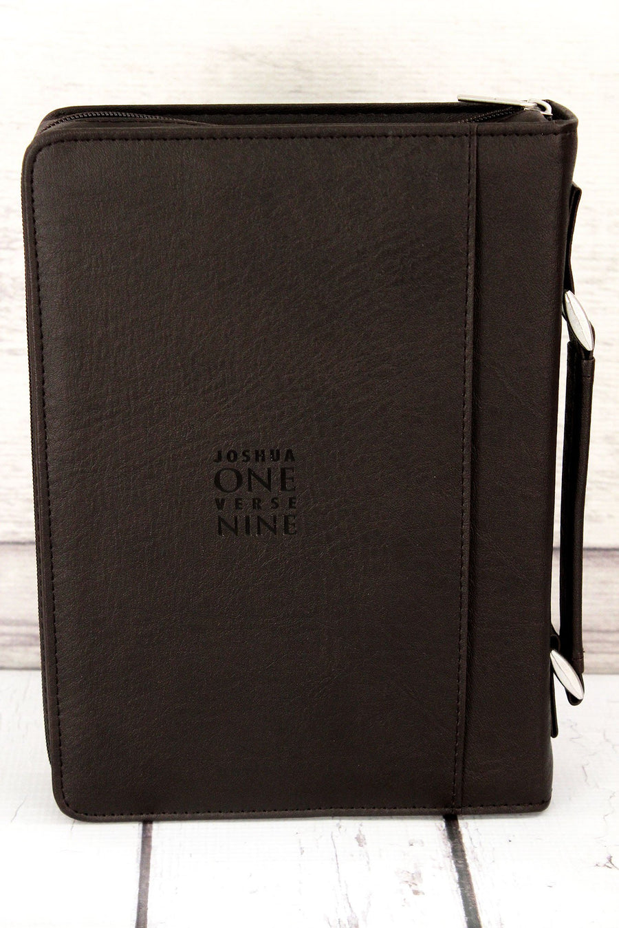 Joshua 1:9 'Strong & Courageous' LuxLeather Large Bible Cover #BBL612