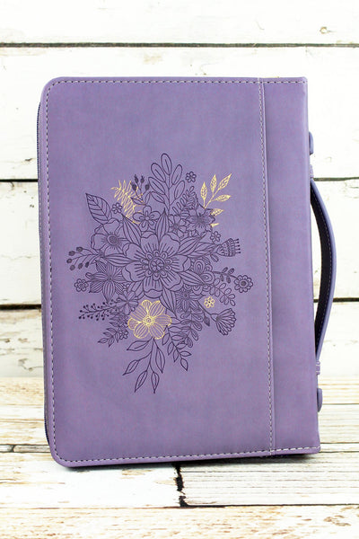 Purple Jeremiah 29:11 'Hope And A Future' Large Bible Cover
