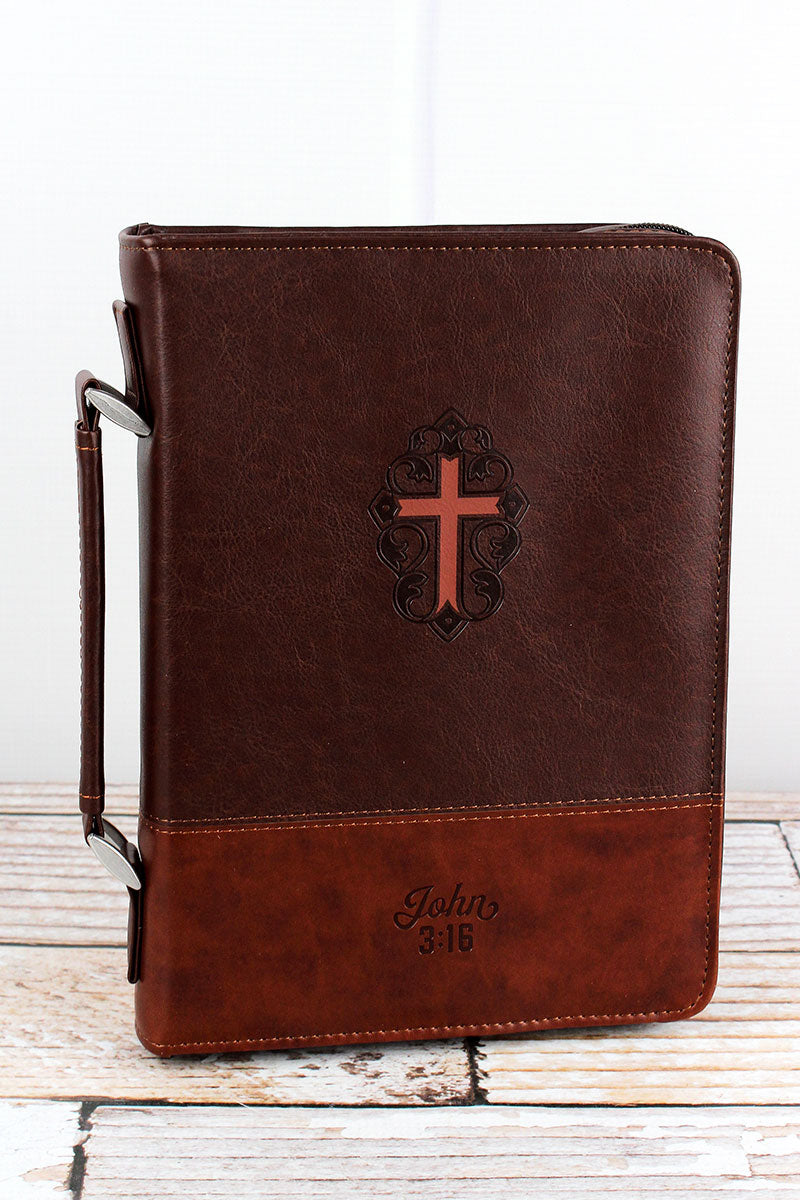John 3:16 Cross Large Bible Cover