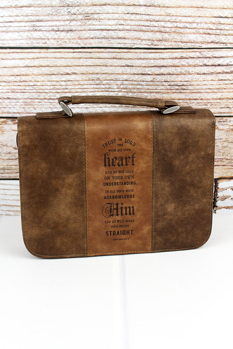 Proverbs 3:5 'Trust In The Lord' LuxLeather Large Bible Cover