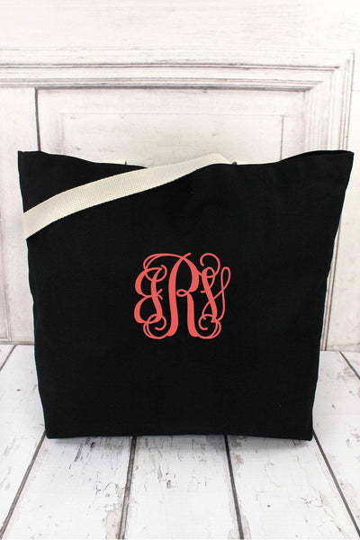 Augusta Black Jumbo Tote #S465AG (PLEASE ALLOW 3-5 BUSINESS DAYS. EXPEDITED SHIPPING N/A)