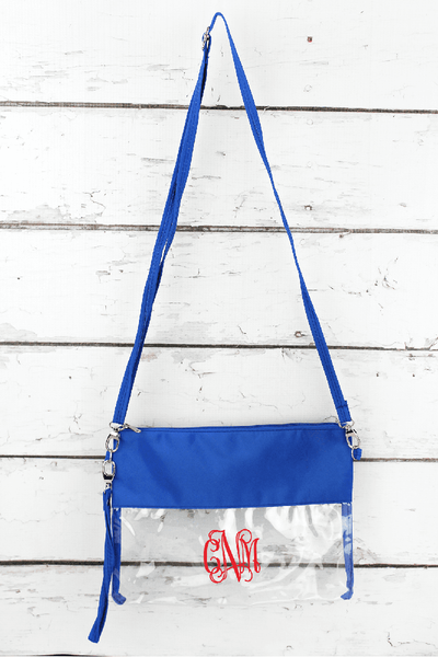 NGIL Clear Crossbody Bag with Royal Trim