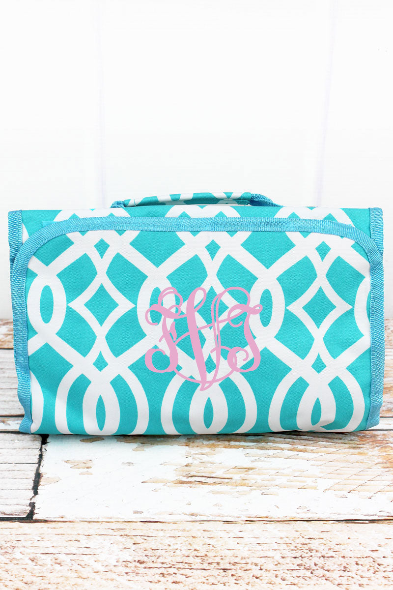 SALE! NGIL Aqua Trellis Roll Up Cosmetic Bag