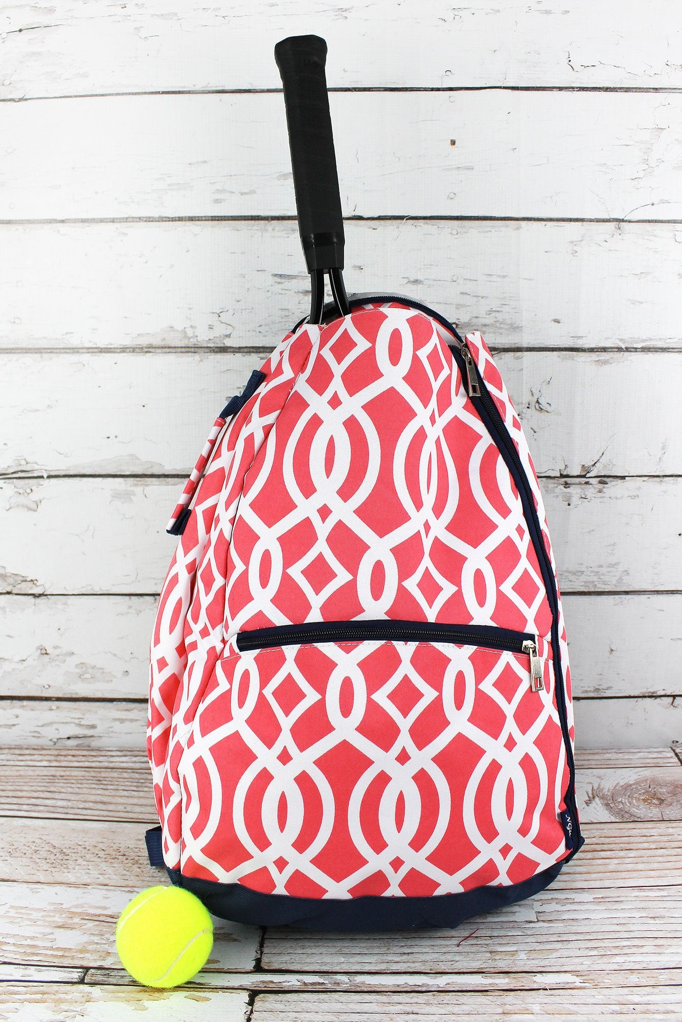Coral Trellis Tennis Backpack