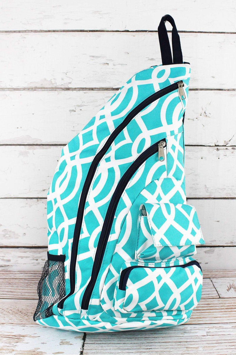 NGIL Aqua Trellis Sling Backpack