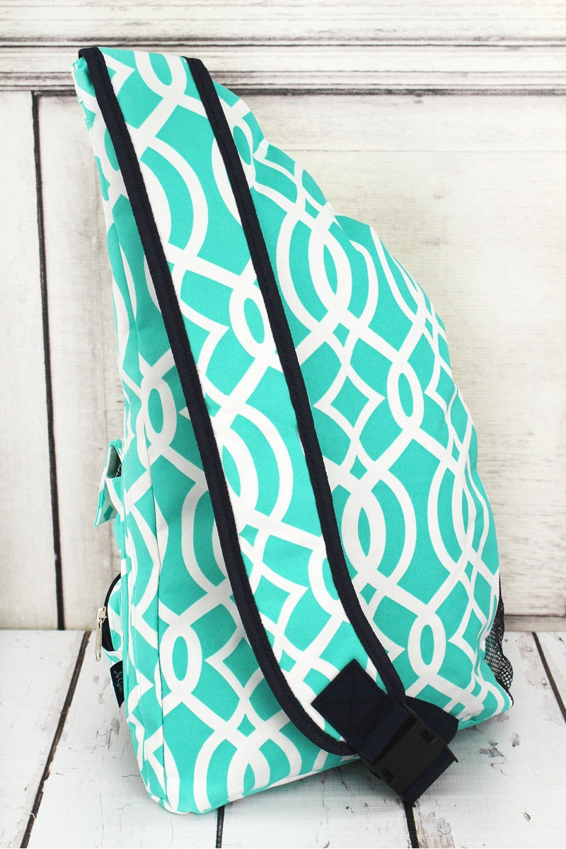 NGIL Mint Trellis Sling Backpack