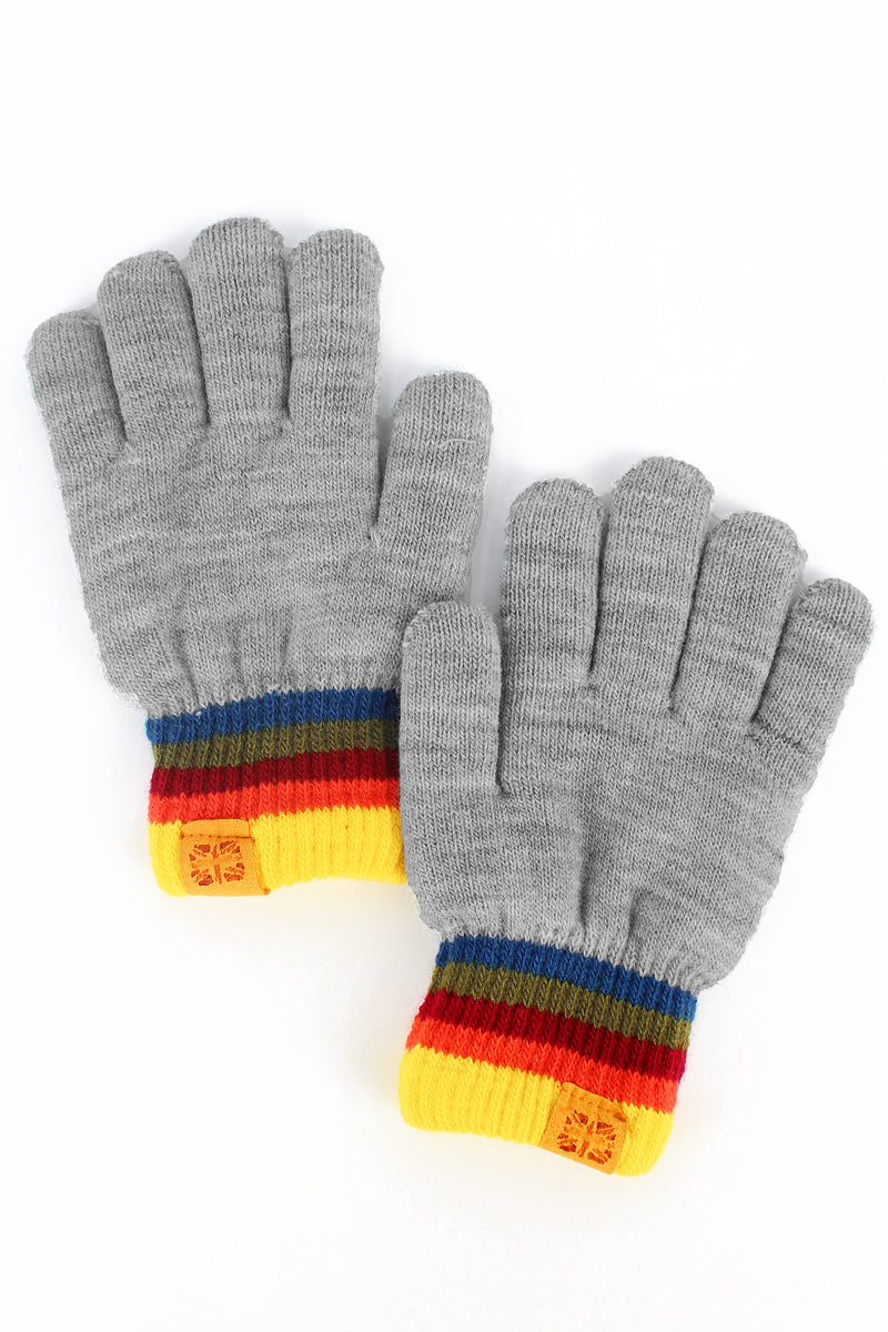 Kid's Gray Play All Day Gloves
