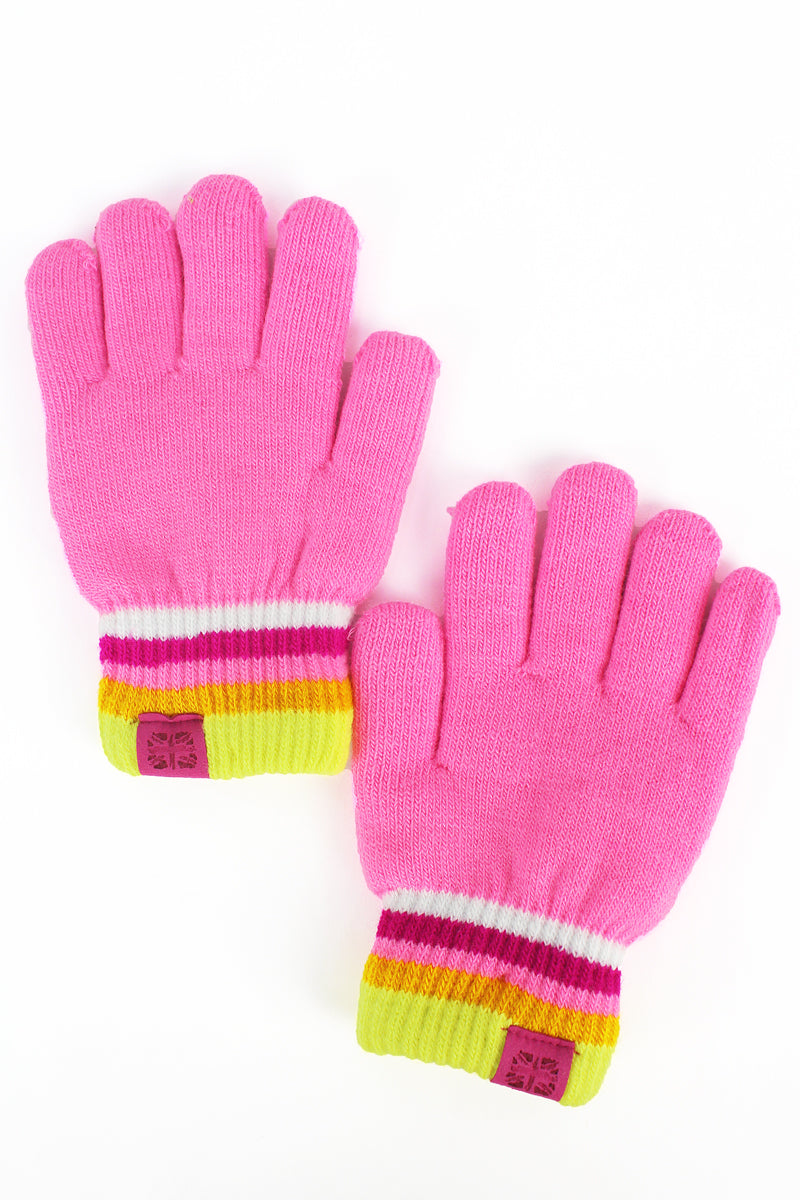 Kid's Pink Play All Day Gloves