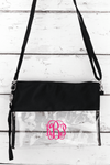 NGIL Clear Crossbody Bag with Black Trim