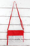 NGIL Clear Crossbody Bag with Red Trim