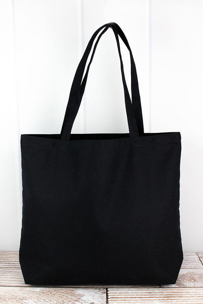 Liberty Bags Washed Black Large Canvas Tote