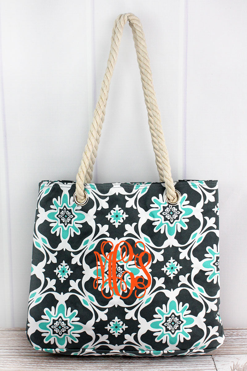 NGIL Serene Garden Rope Handle Tote