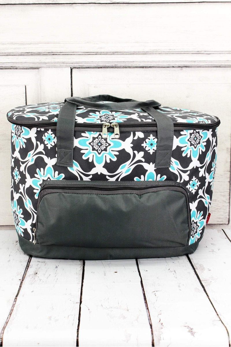 NGIL Serene Garden and Gray Cooler Tote with Lid