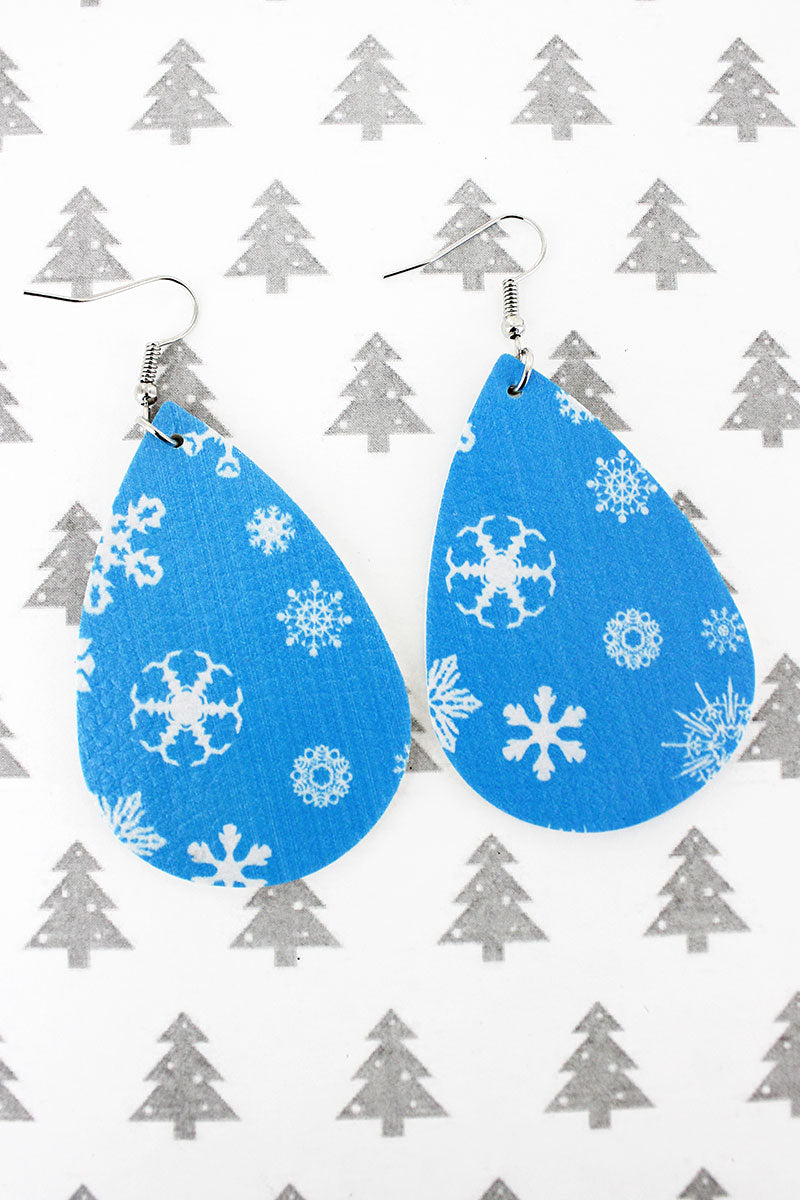 Let It Snow Teardrop Earrings