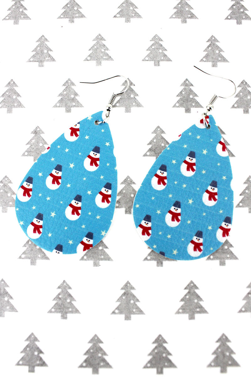 Snowman Teardrop Earrings