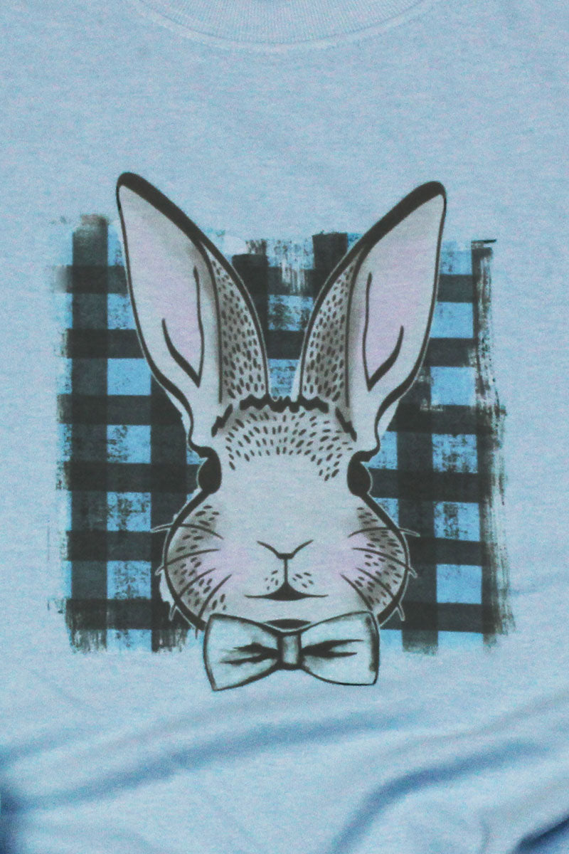 Boy Bunny Plaid Dri-Power Youth 50/50 T-Shirt