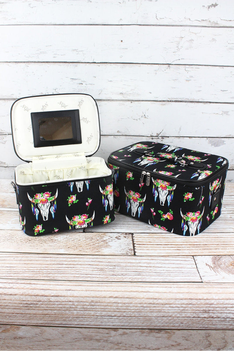 NGIL Free Spirit Steer 2 Piece Cosmetic Case Set