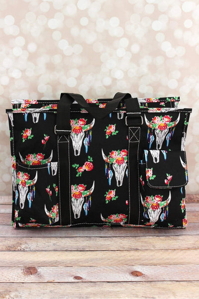NGIL Free Spirit Steer Utility Tote with Black Trim