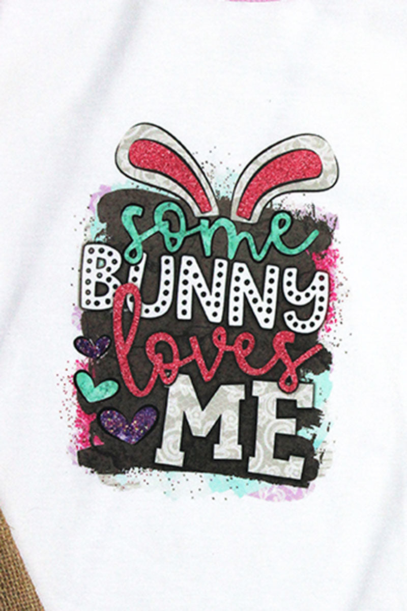 Some Bunny Loves Me Youth 3/4 Sleeve Raglan