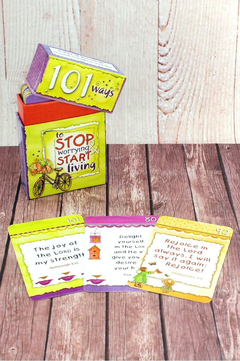 101 Ways to Stop Worrying & Start Living Promise Cards #BX003 - Wholesale Accessory Market