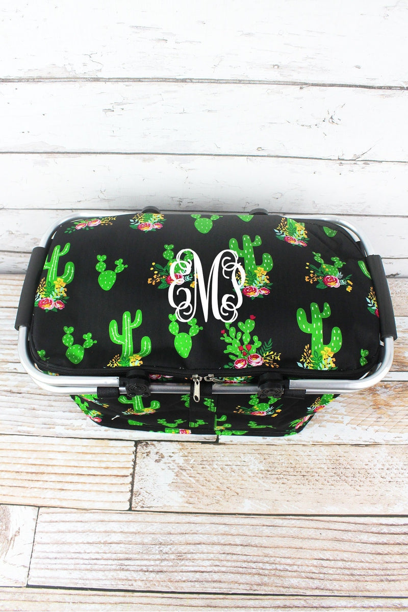 NGIL Cactus Garden Collapsible Insulated Market Basket with Lid