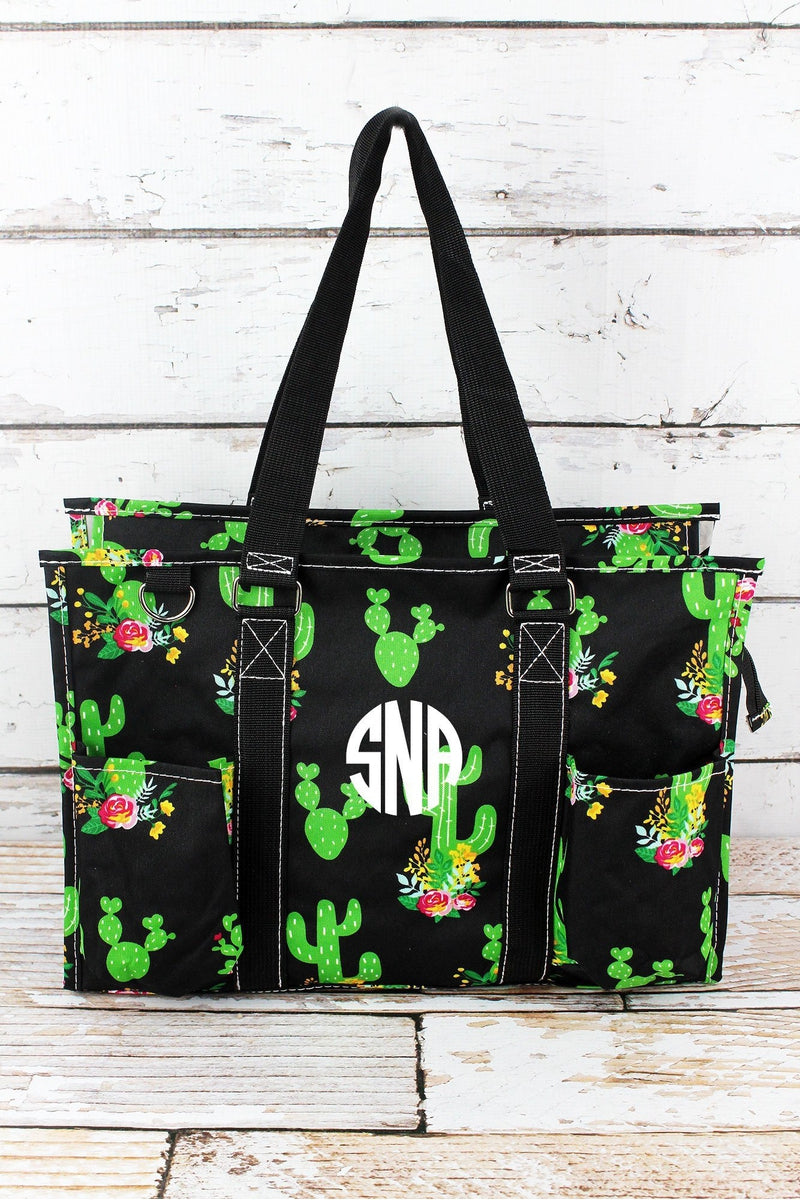 NGIL Cactus Garden Utility Tote with Black Trim