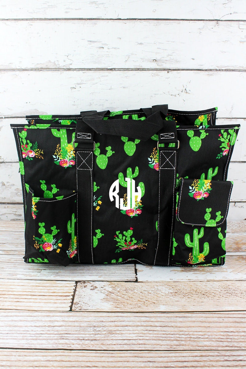 NGIL Cactus Garden with Black Trim Quilted Large Organizer Tote