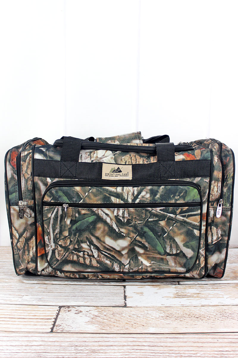 NGIL Natural Camo Duffle Bag with Black Trim 20""