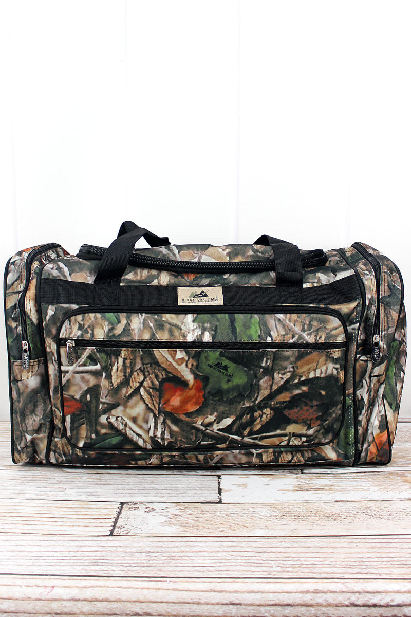 NGIL Natural Camo Duffle Bag with Black Trim 23""