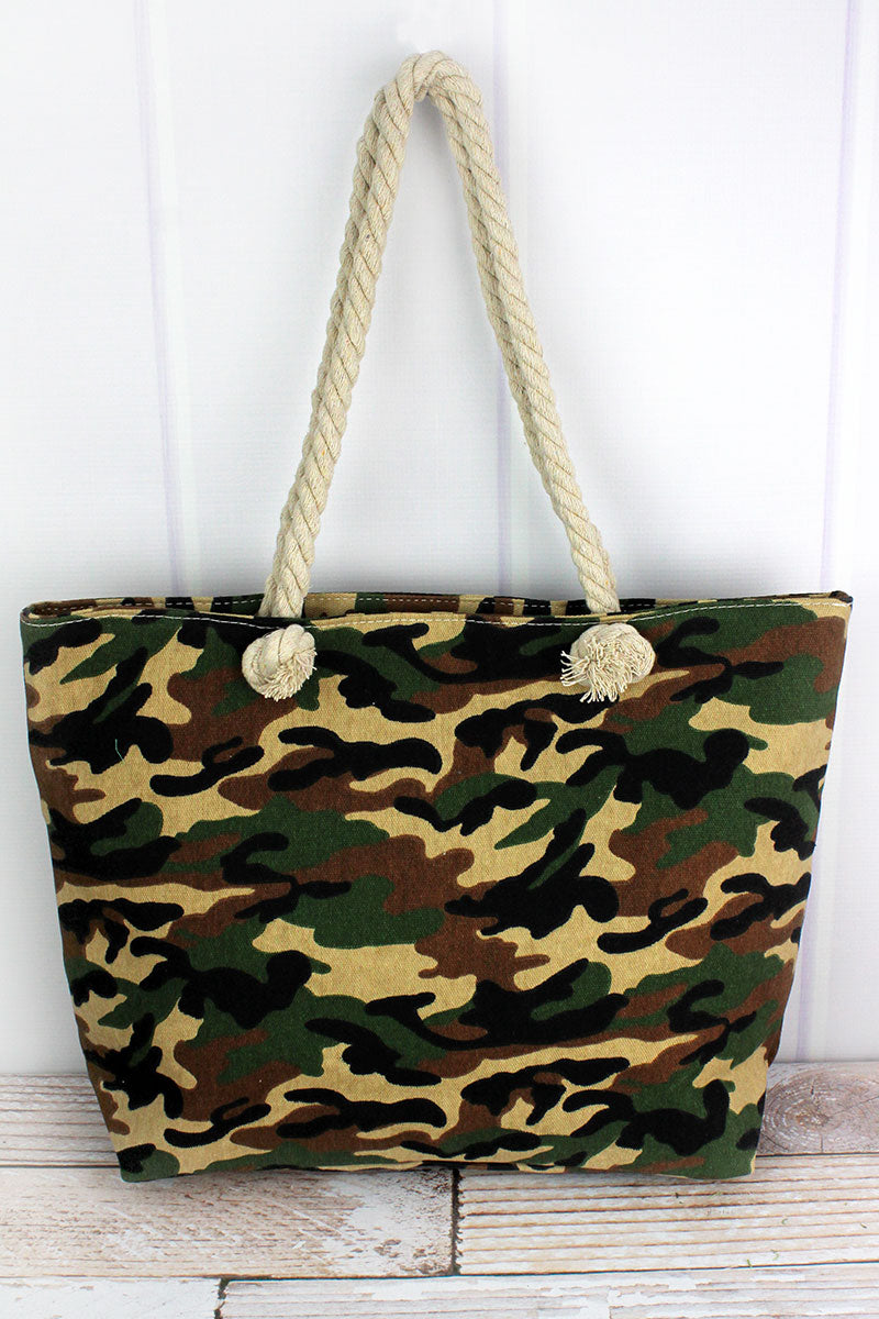 Woodland Camo Shoulder Tote