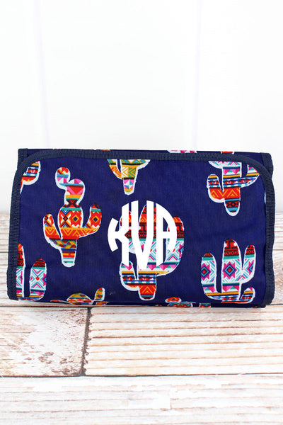 NGIL Mojave Cactus Roll Up Cosmetic Bag