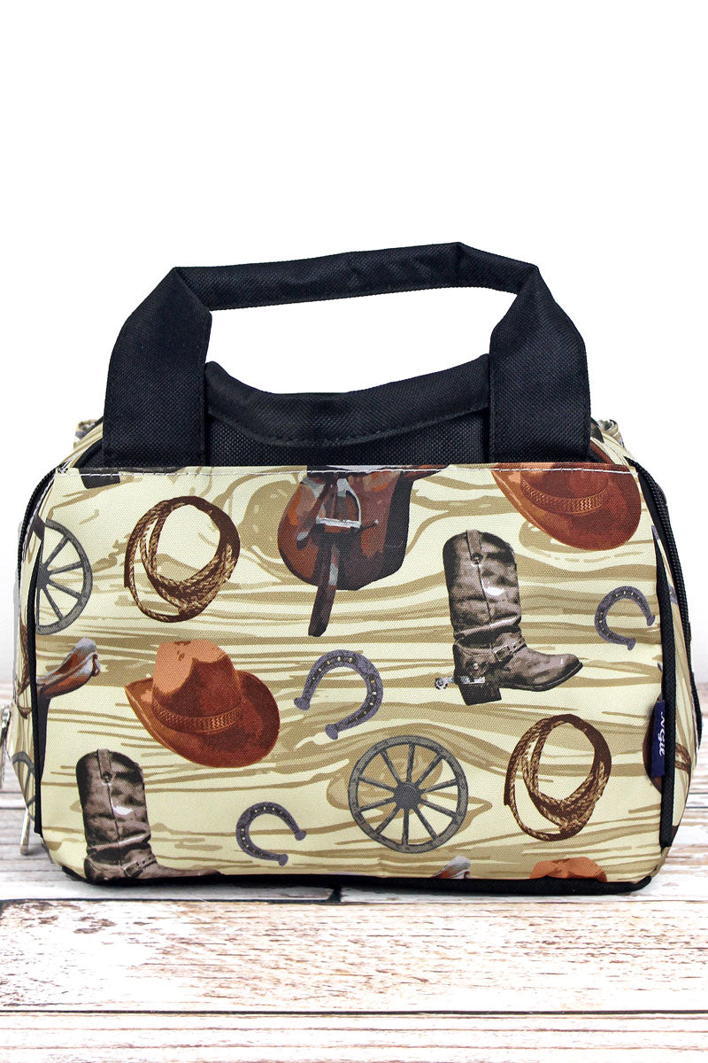 NGIL Wild Wild West Insulated Bowler Style Lunch Bag