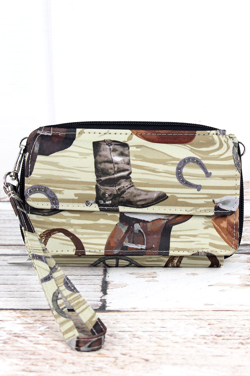 NGIL Wild Wild West Crossbody Organizer Clutch