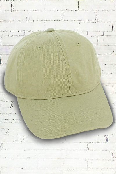 Stone Comfort Colors Dyed Canvas Baseball Cap