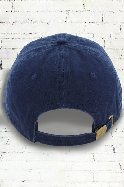 True Navy Comfort Colors Dyed Canvas Baseball Cap
