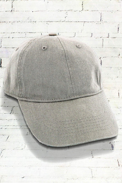 Gray Comfort Colors Pigment Dyed Canvas Baseball Cap