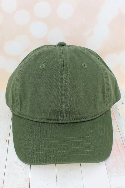Moss Comfort Colors Pigment Dyed Canvas Baseball Cap