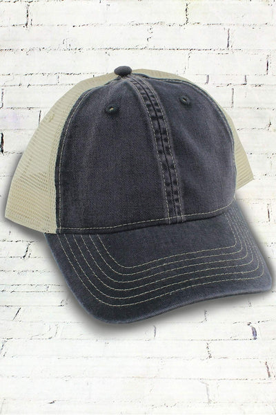 Graphite and Ivory Comfort Colors Unstructured Trucker Cap
