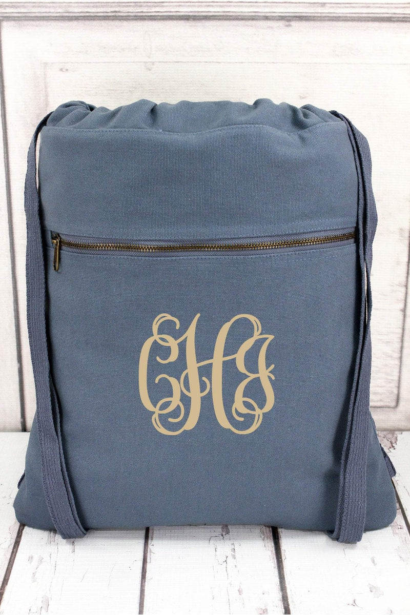 Blue Jean Comfort Colors Canvas Drawstring Backpack  CC0342 (PLEASE ALLOW  3-5 BUSINESS d4a0519aabd75