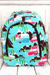 NGIL Happy Camper Large Backpack with Brown Trim