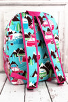 NGIL Happy Camper Large Backpack with Hot Pink Trim