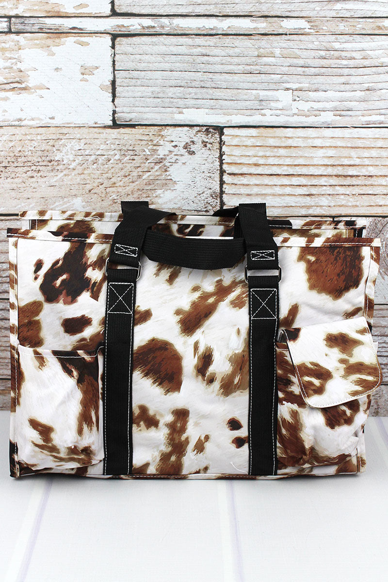 NGIL Till The Cows Come Home Utility Tote with Black Trim