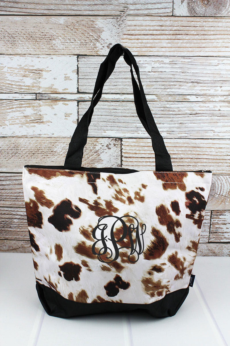 Till The Cows Come Home with Black Trim Tote Bag