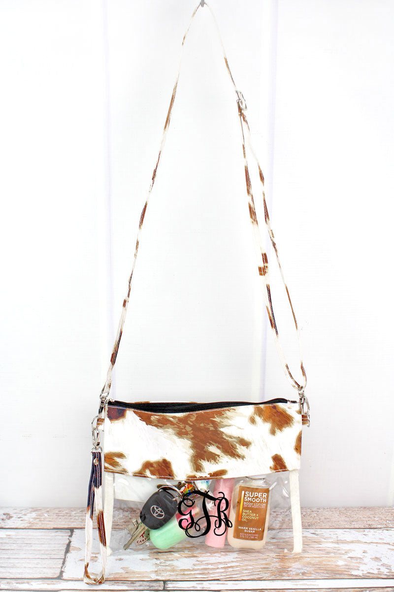 NGIL Till The Cows Come Home Clear Crossbody Bag