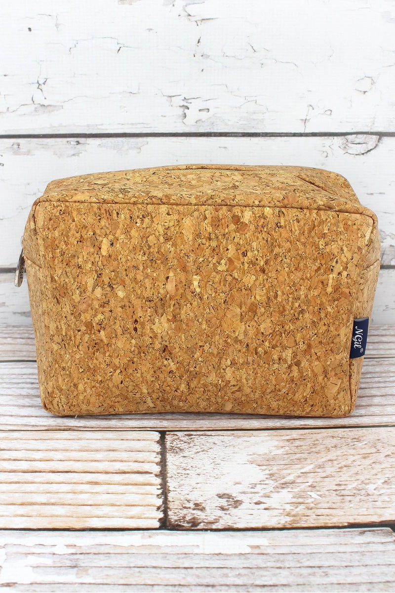 NGIL Gold Glimmer Cork Cosmetic Case