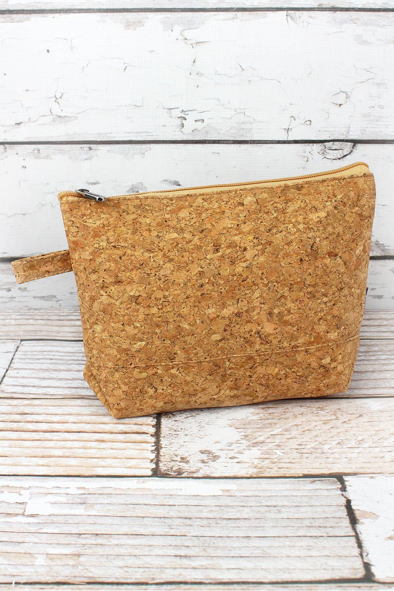 NGIL Gold Glimmer Cork Cosmetic Bag