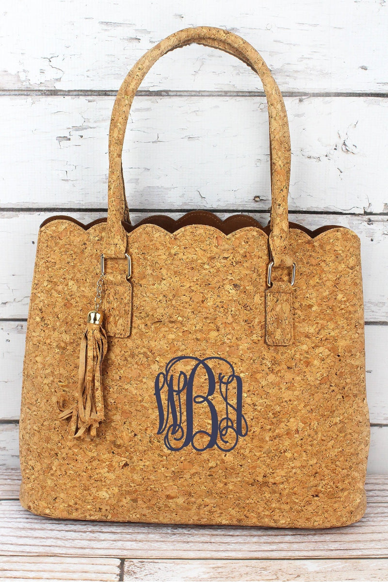 bf05eef18d93 NGIL Gold Glimmer Cork Scalloped Tote