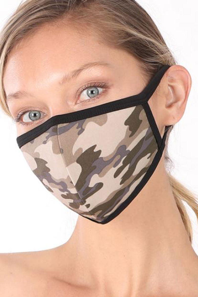 Dusty Camouflage Two-Layer Fashion Face Mask