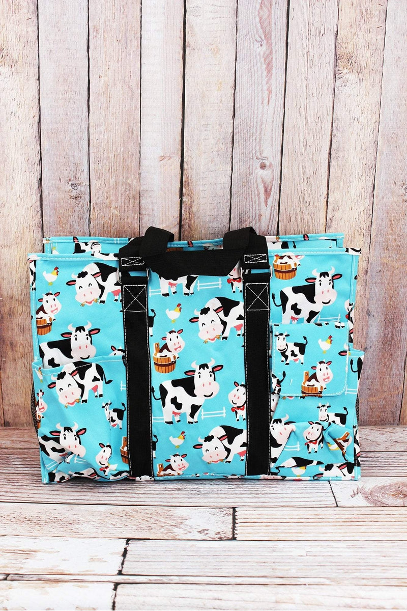NGIL Udderly Cute Cows with Black Trim Large Organizer Tote